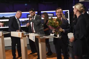 Tre huvudrollsinnehavare i SVT Agendas debatt på söndagen. Jonas Sjöstedt, Jimmie Åkesson och Ulf Kristersson. Foto: Fredrik Sandberg / TT