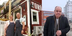 Näringslivsberedningens ordförande Håkan Svanberg (M) berättar att Nynäshamns kommun tänker försöka att stötta Torö lanthandels ägare Mia och Arne Funk, i tvisten mot Trafikverket.