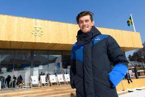 Fredrik Lindström är rutinerad och gör nu sitt tredje OS. Här utanför svenska boendet i Pyeongchang, Sydkorea.Foto: Carl Sandin/Bildbyrån