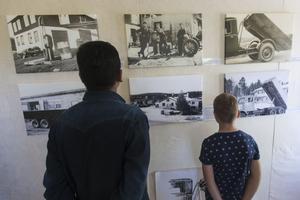 Gamla bilder och filmklipp visades upp på utställningen som invigdes under fredagen och pågår under hela sommaren, men håller bara öppet vid bokningar.