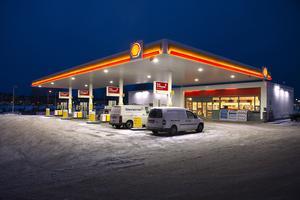 Shell på Kolvägen i Sundsvall.