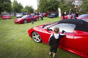 2013 visade klubben upp sina bilar utanför Länsmuseet i Gävle.