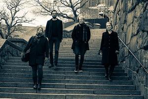 I Södertälje spelar Treitlerkvartetten musik av Valborg Aulin, Henri Dutilleux och Béla Bartók. Foto: Alice Olsson