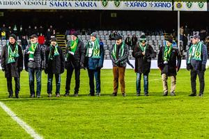 Jönköpings Södras lag från 1968 hyllades i pausen i matchen mot Gais.