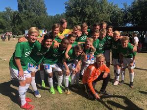 IK Brages P14-lag tog hem segern i Dalecarlia Cup. Foto: Privat