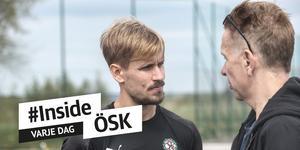 Daniel Björnquist har fått  en annan roll i ÖSK:s försvarslinje de senaste matcherna. Från en offensiv wingbacksposition har han blivit en mittback av tre.