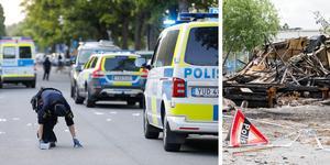 Polisen genomförde en stor insats i Sollentuna efter en skjutning där. Den händelsen kan vara intressant för utredningen av sprängningen mot Efter två. Foto: Christine Olsson/TT, Gabriel Rådström/NA
