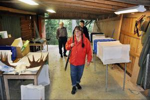 Den jonssonska gårdens älgstyckrum, beläget intill kylrummet i gårdens speciella älghanteringshus.