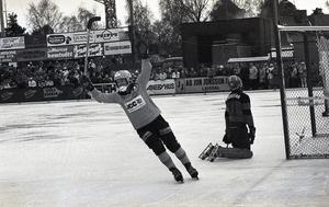 Bengt Jonsson har gett Broberg ledningen med 1–0 i finalen mot Jenisej.