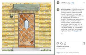 Bild från Cecilia Björks och Laila Reppens instagramkonto Arkitektens öga.