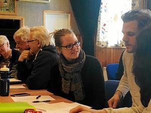 Framtidens Bygdegårdsrörelse – diskuterades på distriktsstämman Från vänster Mildred Näsström, Tandsbyns bygdegård, Per-Göran Persson och Lars Werner, Hoverbergs bygdegård, Malin Harrysson och Björn Nilsson, Kvitsle bygdegård, Mattmar.