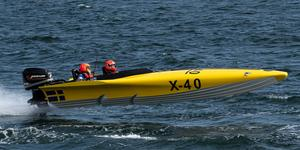 Håkan Söderman och Claes Elehn, Roslagens Boat Racing. Bild: Daniel Josefsson