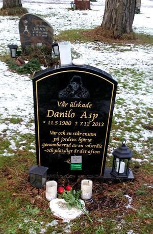 Danilos grav, på alla hjärtans dag 2018.Foto: Privat