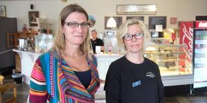 Skyddsvärnets vd Nilla Helgesson (vänster) och Marita Gullberg, handledare på Skyddsvärnet i Nynäshamn.