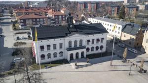 I Köping finns solpaneler monterade på bland annat Rådhusets tak.