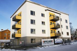 Även lägenheter efterfrågas, och förra vintern blev huset på Molinsgatan, byggt av Ljusdalshem, färdigt för inflyttning.