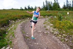 16-årige Albin Gezelius, IFK Mora, kom på tredje plats i milloppet. Foto: Bagheera Fjällmaraton Sälen