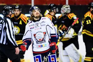 Brodecki i Gavlerinken under en match för Linköping mot Brynäs. Foto: Bildbyrån