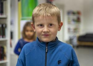 Adam Elfving, 6 år, förstaklassare, Stockholm
