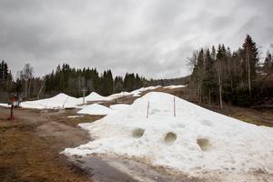 Det är snart två veckor sedan det sprutades snö i Storstenshöjden. Nu har det mesta töat bort.