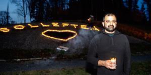 Majed Safaee är kommunikationsstrateg på Sollefteå kommun men genomförde manifestationen som privatperson.