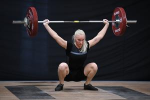 Wilma Antfolk ryck 76kg. Foto: Niklas Antfolk