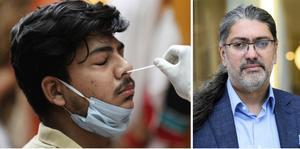 Ali Mirazimi, professor i klinisk virologi vid Karolinska institutet. FOTO: Rajesh Kumar Singh/AP/TT