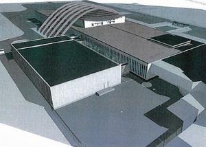Den nya byggnaden ska smälta in i miljön. Illustration: agnasARK.