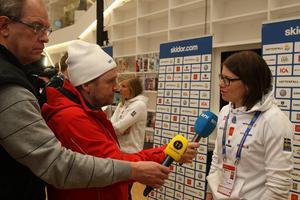Ida Ingemarsdotter fick ge många intervjuer i tisdags förmiddag. Alla ville prata med skidtjejen som stadigt brukar leverera i de stora mästerskapen.
