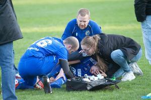 Calle Enarsson skadade sitt ben - för tredje gången.