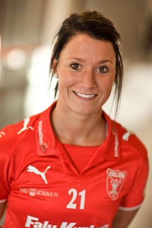 Emma Lundmark gjorde ett mål och var en av IBF Faluns bästa spelare i matchen mot Sala Silverstaden.