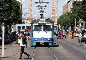 Klassisk spårvagn i Göteborg.