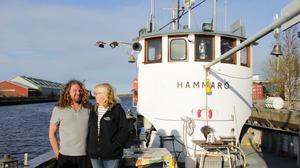 När Ingrid och Christer träffades bodde Christer redan på båten.
