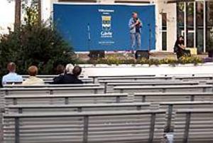 Foto: LARS WIGERT I opposition. Lennart Wärmby talade bara för de redan invigda på ja-sidan.