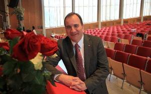 Stefan Löfven, partiledare (S) talade på S-distriktets kongress i Ludvika i helgen. Foto: Seth Jansson