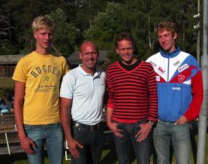 Företagardag. Några av aktörerna vid OK Malung Skogsmårdarnas företagardag på Orrskogen Jimmie Larsson, föredragshållaren och förra skidstjärnan Torgny Mogren, Erik Rost och Håkan Eriksson.