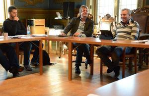 De närvarade på kommunstyrelsen. Peter Dahlström, Bergslagsäventyr, och Jimmy Hoppe.