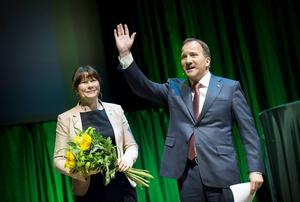 Vice statsminister (?) Åsa Romson och statsminister Stefan Löfven.