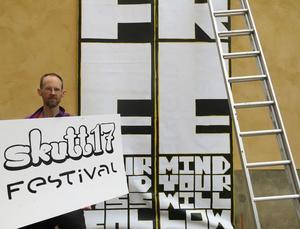 Idkas ordförande Johan Löfströms har grundat skulpturfestivalen Skutt17.