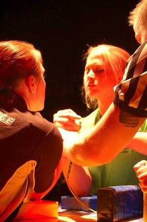 Sarah Bäckman, 17, från Tullinge utanför Stockholm, spås bli Heidi Anderssons arvtagerska. Hon tävlade i 70-kilosklassen.