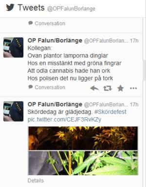 Dalapolisens julrim på Twitter inspirerade stockholmspolisen som lovar att slå följe och rimma under jul.