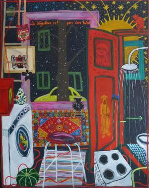 Orsakonstnären Monika Wennergren vann affischpriset Vid Salong! 2012 i Helsingborg med sin stora akrylmålning