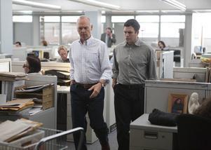 Michael Keaton (till vänster) och Mark Ruffalo i en scen ur flerfaldigt Oscarsnominerade