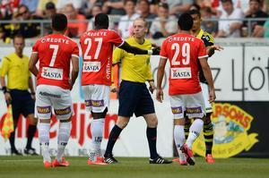 Per Melin under förra säsongen, i en allsvensk match mellan Kalmar och AIK.