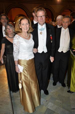 Leif Johansson med fru Eva.