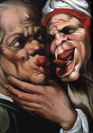 Fulheten i  betraktarens öga. Karikatyr av Bartolomeo Passerotti.