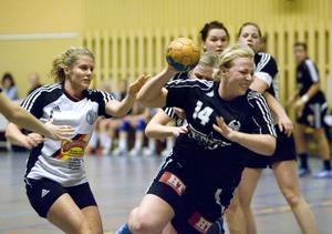 Erika Olsson och hennes lagkamrater hade problem med anfallsspelet.