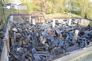 Misstanken om att branden i Kvarnbyggnaden var anlagd stärktes i torsdags, efter polisteknikernas undersökning av platsen. BILD: SAMUEL BORG