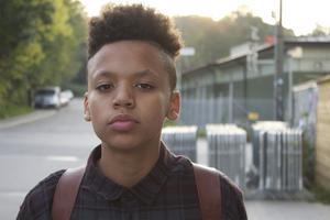 Adam Kanyama är bara 15 år men har redan jobbat folk som Stuffe från rapgruppen Fattaru och Masse från tunga Salazar Brothers.