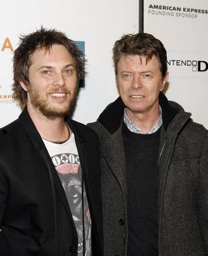 Duncan Jones och hans far David Bowie.